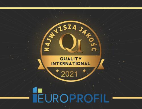 EUROPROFIL z certyfikatem Najwyższa Jakość QI